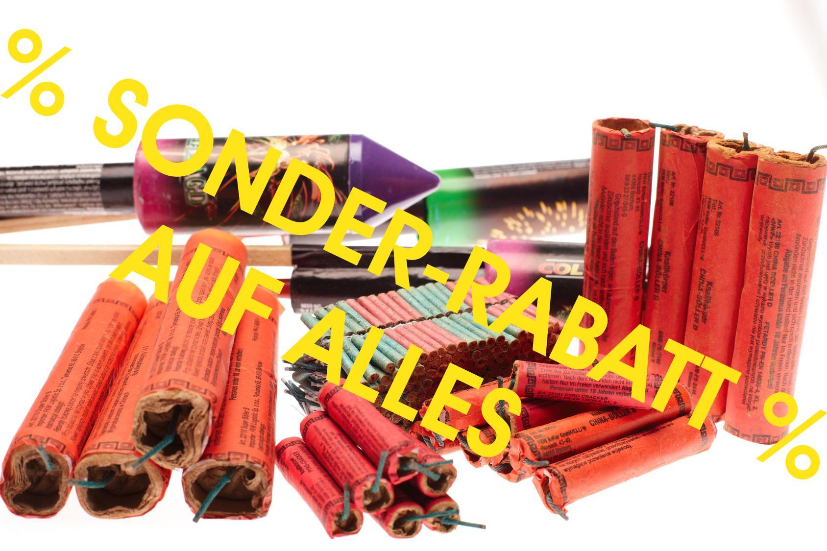 Als Mitglied im Club Sonderrabatte für Silvester Feuerwerkskörper erhalten.