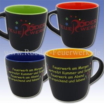 Tasse mit Spruch Merchandising Werbemittel Röder Feuerwerk