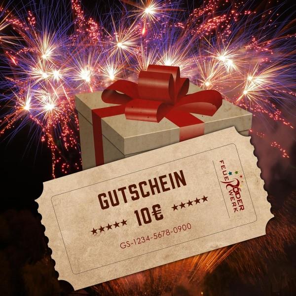 Feuerwerk Gutschein über 10€ online kaufen