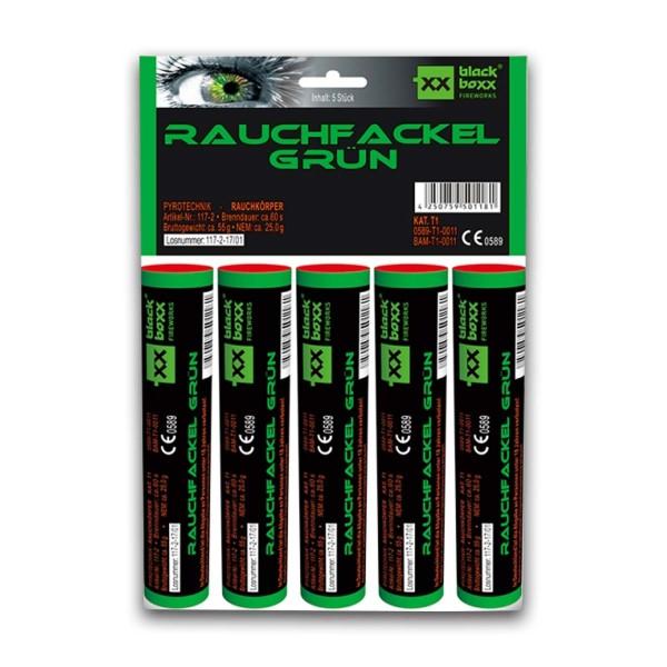 Rauchfackel grün 5er- Pack Bühnenfeuerwerk Rauch Blackboxx Fireworks