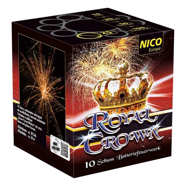 Nico Feuerwerk Royal Crown Feuerwerksbatterie mit schönen Feuerwerks-Effekten