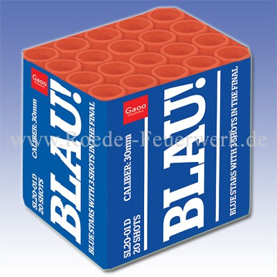 BLAU Batteriefeuerwerk Röder Feuerwerk