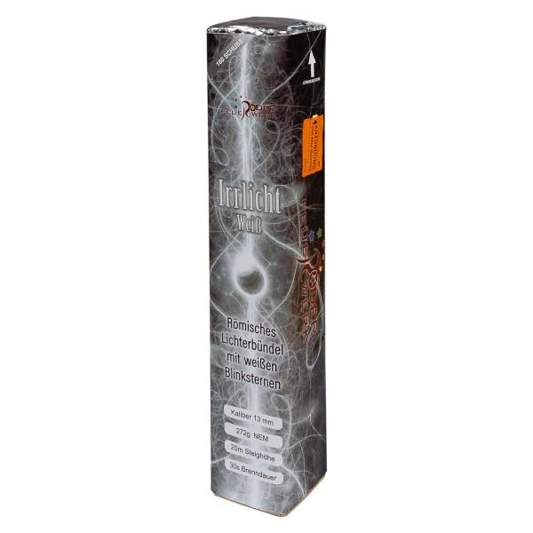 Großes Römisches Licht Irrlicht Weiss aus der Eigenserie von Röder Feuerwerk