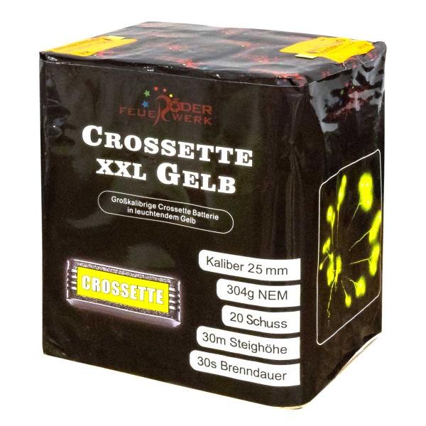 Crossette XXL Gelb Batteriefeuerwerk Röder Feuerwerk