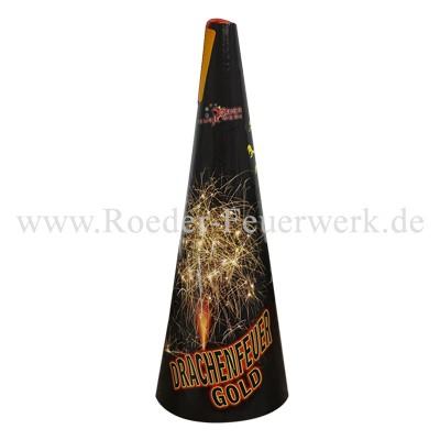 Drachenfeuer Gold Leuchtfeuerwerk Vulkane Röder Feuerwerk