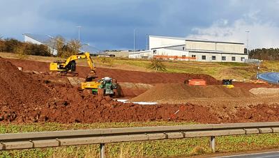 Baustart Böllerhalle