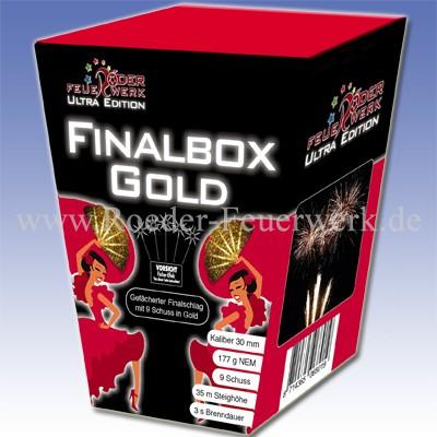 Finalbox GOLD 3er- Kiste Batteriefeuerwerk Röder Feuerwerk