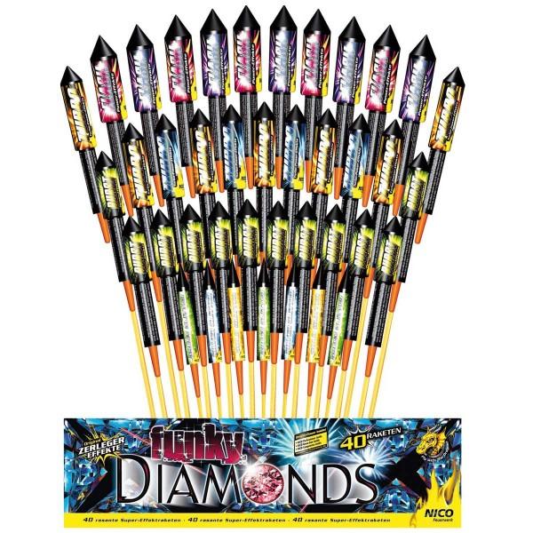 Raketensortiment Funky Diamonds von Nico Feuerwerk