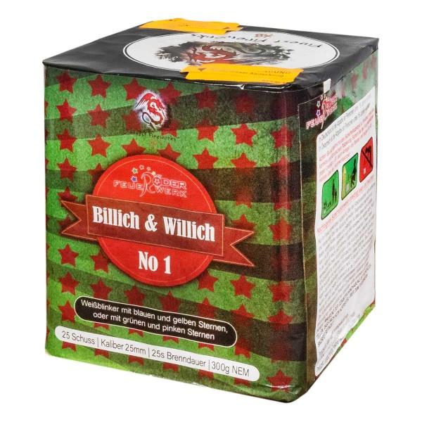 Günstige Feuerwerksbatterie Billig und Willig Nr. 1 von Röder Feuerwerk