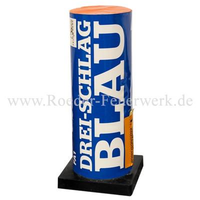 Drei-Schlag Blau Einzelschuss Bombenrohre Röder Feuerwerk