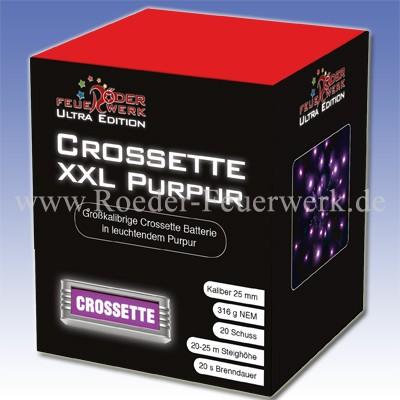 Crossette XXL Purpur Batteriefeuerwerk Röder Feuerwerk