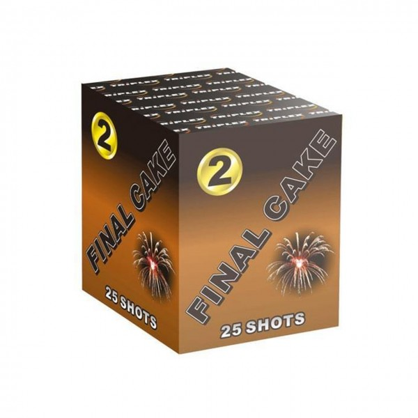 Final Cake 2 Kategorie F3 Batteriefeuerwerk Triplex