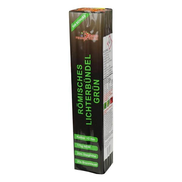 Römisches Lichterbündel grün Batteriefeuerwerk Röder Feuerwerk