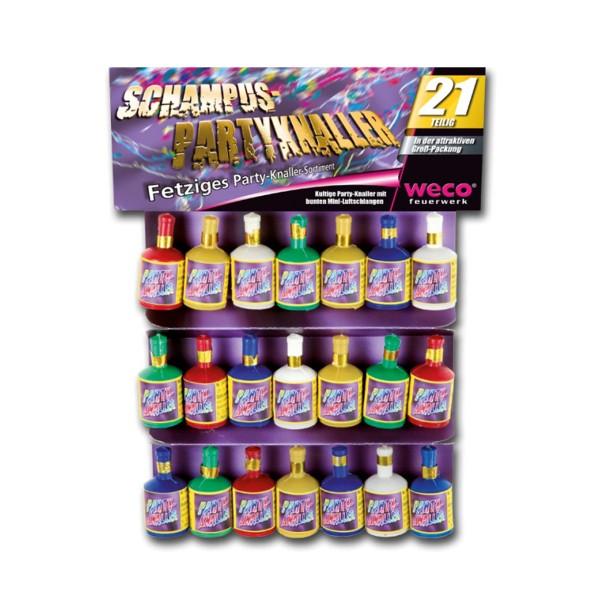 Schampus-Party-Knaller 21er Jugendfeuerwerk Tischfeuerwerk Weco Feuerwerk