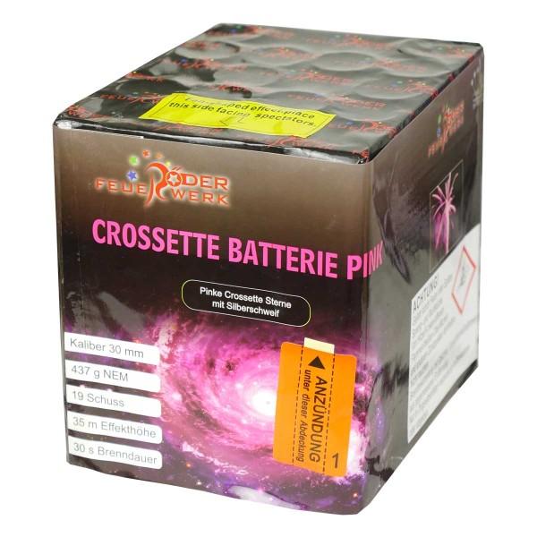 Crossette Batterie pink Batteriefeuerwerk Röder Feuerwerk