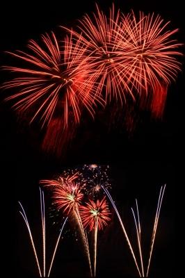 Der Höhepunkt eines jeden Volksfestes, das Großfeuerwerk