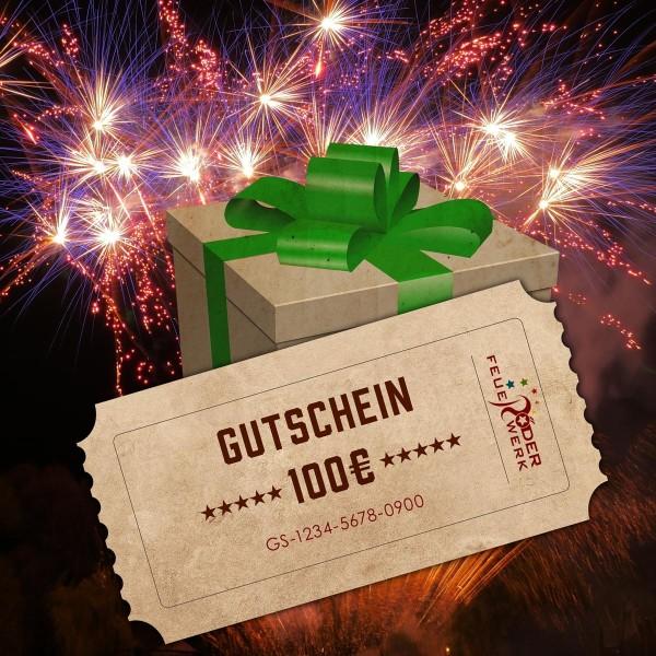 Feuerwerk Gutschein im Wert von 100€ online bestellen
