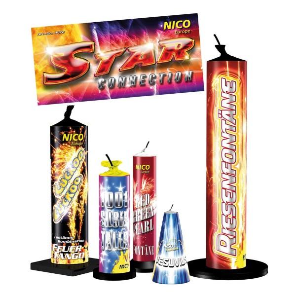 Star Connection Fontänen Sortiment von Nico Feuerwerk