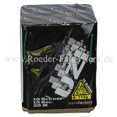 Uzi/ Bird Killer Batteriefeuerwerk Pyrofactory PyroFactory