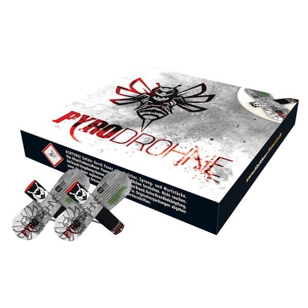 Pyro-Drohne Leuchtfeuerwerk Vögel Blackboxx Fireworks
