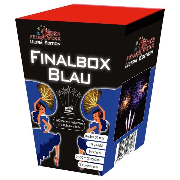 Finalbox BLAU 3er- Kiste Batteriefeuerwerk Röder Feuerwerk