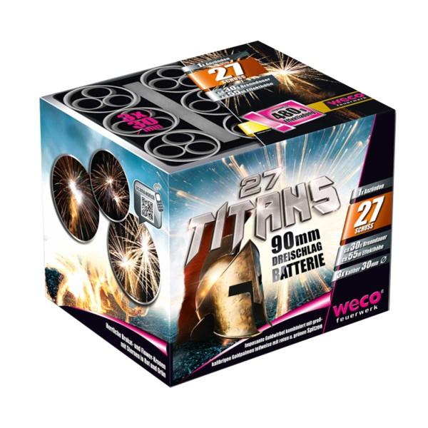 27 Titans Batteriefeuerwerk weco feuerwerk