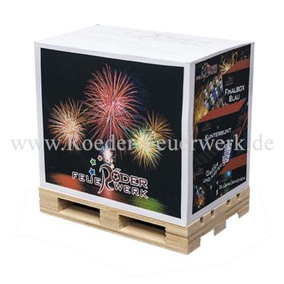 Notizblock auf Palette Merchandising Werbemittel Röder Feuerwerk
