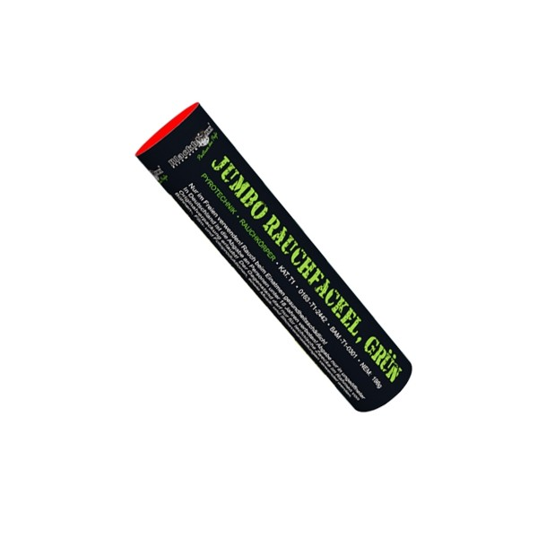 Jumbo Rauchfackel grün Bühnenfeuerwerk Rauch Blackboxx Fireworks