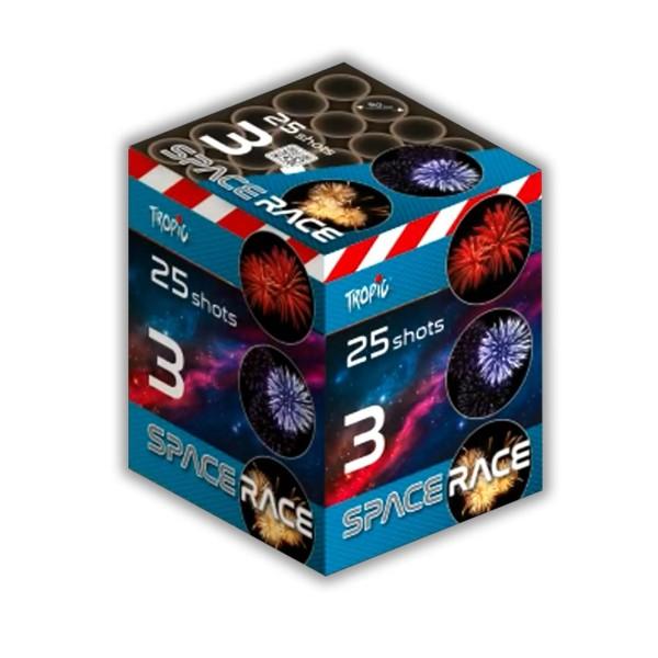 Space Race 3 50mm Kategorie F3 Batteriefeuerwerk Tropic