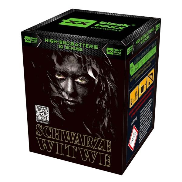 Schwarze Witwe Batteriefeuerwerk Blackboxx Fireworks
