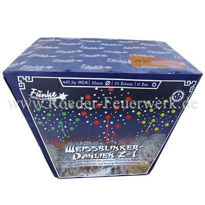 Weißblinker-Dahlien Z-1 (FC25-25-6) Batteriefeuerwerk funke