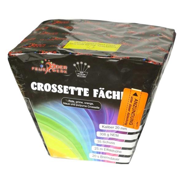 Crossette Fächer Batteriefeuerwerk Röder Feuerwerk