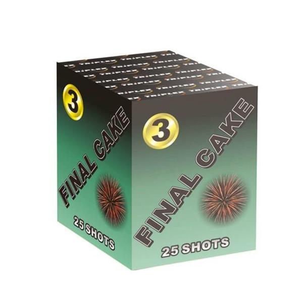 Final Cake 3 Kategorie F3 Batteriefeuerwerk Triplex
