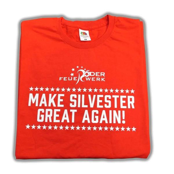 T-Shirt Make Silvester Great Again Merchandising Werbemittel Röder Feuerwerk