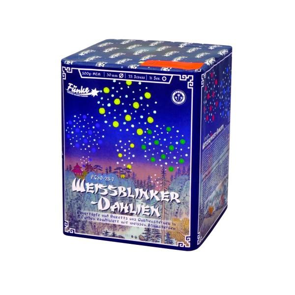Weißblinker Dahlien FC30-25-7 Batteriefeuerwerk funke