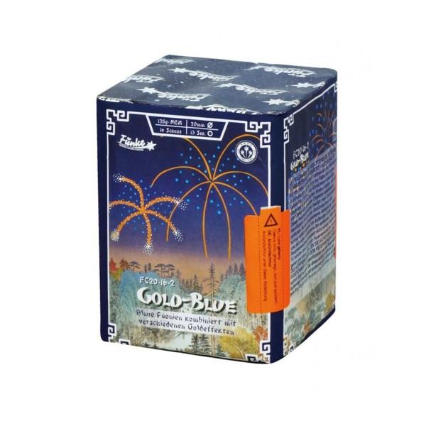 Gold-Blue FC20-16-2  Batteriefeuerwerk funke