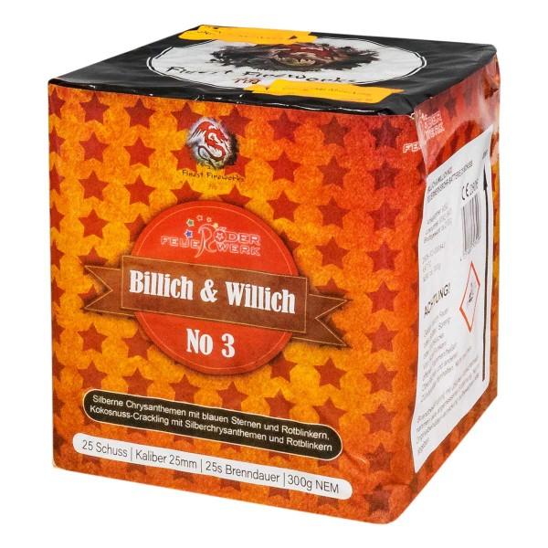 Die Feuerwerksbatterie Billich und Willich Nr. 3 ist saugünstiges Feuerwerk