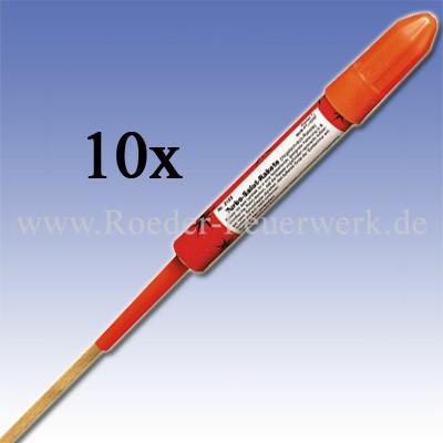 Turbo Salut Rakete 10er- Schachtel Raketen und Sortimente Raketensortimente Weco Feuerwerk