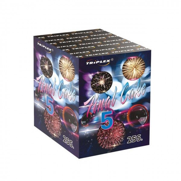 Final Cake 5 Kategorie F3 Batteriefeuerwerk Triplex