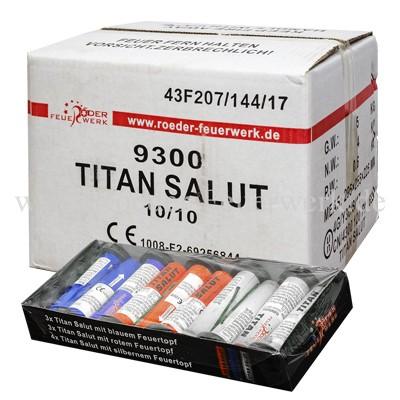 Titan Salut Kiste 10x10 Stück Einzelschuss Bombenrohre Röder Feuerwerk