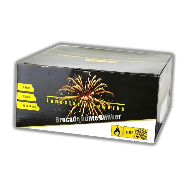 Feuerwerksbatterie LS-F2-100-05 von Lonestar mit Brokatbuketts mit Blinkern