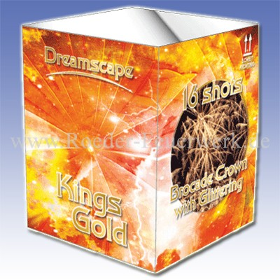 Kings Gold 6er- Kiste Batteriefeuerwerk evolution Feuerwerk