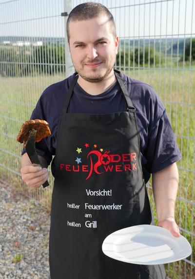 Grillschürze Röder Feuerwerk Merchandising Werbemittel Röder Feuerwerk