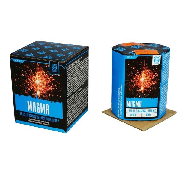 Magma von Argento Feuerwerk ist eine Feuerwerksbatterie mit 10 Schuss
