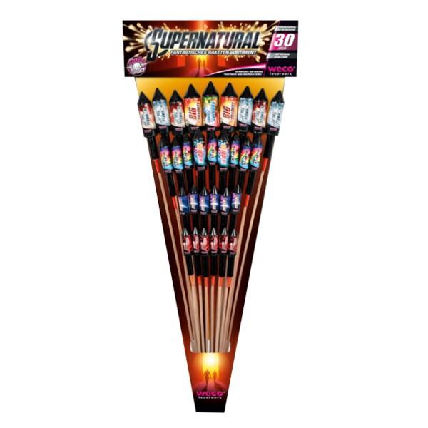 Supernatural Raketen und Sortimente Raketensortimente Weco Feuerwerk