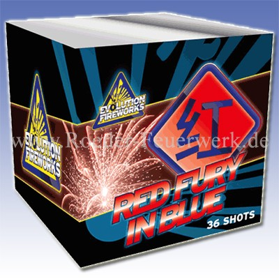Red Fury in Blue 2er- Kiste Batteriefeuerwerk evolution Feuerwerk