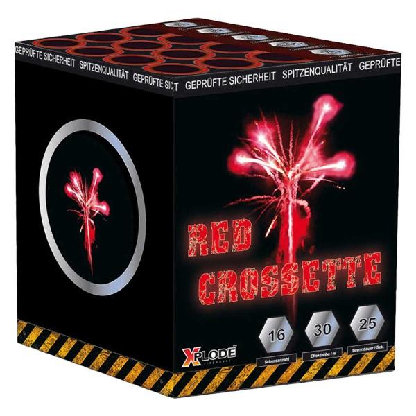 Full Power ROT/ Red Crossette Batteriefeuerwerk Xplode Feuerwerk