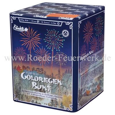 Goldregen Bunt FC30-25-32 Batteriefeuerwerk funke