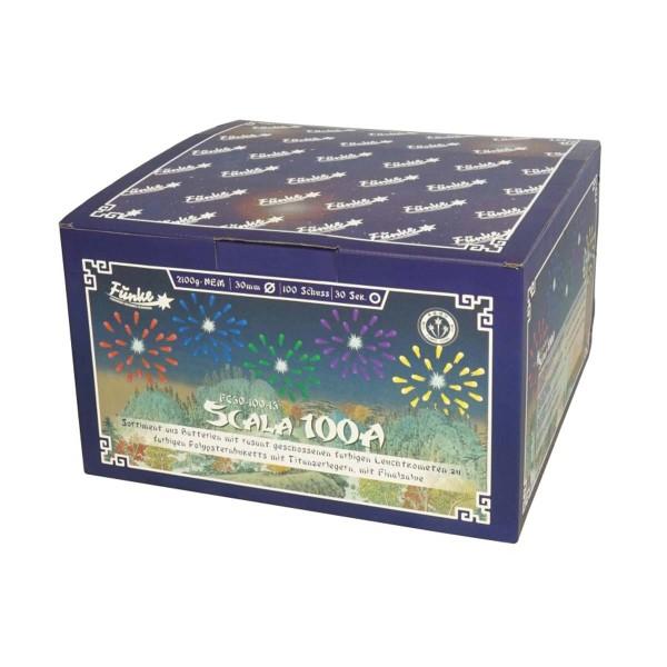 Scala 100A von Funke Feuerwerk mit leuchtstarken Farben