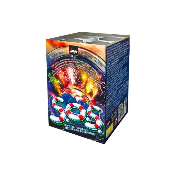 S.O.S. Fontäne Leuchtfeuerwerk Fontänen Jorge Feuerwerk